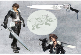 Squall's Gunblade Revolver Sword constructed with high quality stainless steel