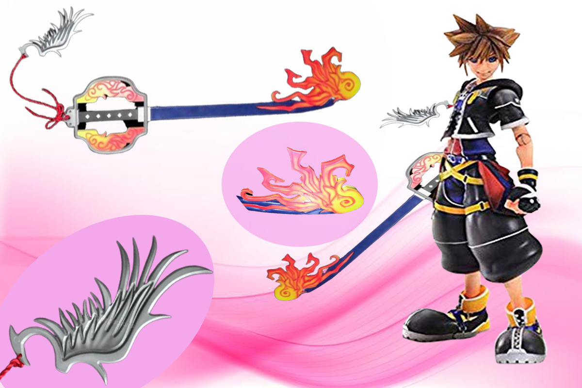 one winged angel keyblade,also called the fire and ice keyblade is up for sale