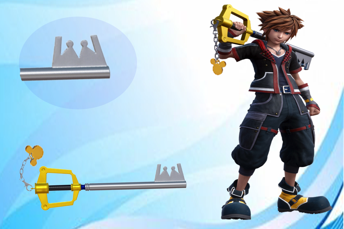Beautifully styled Kingdom key D Sora Keyblade