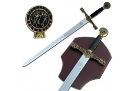 Excalibur Medieval Crusader Black Sword