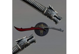 Red Dragon Blade Open Mouth Sword